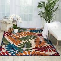 "Nourison Aloha Multicolor Indoor/Outdoor Rug - 5'3"" x 7'5"""