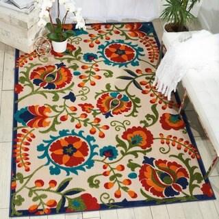 Nourison Aloha Multicolor Indoor/Outdoor Rug (5'3 x 7'5)