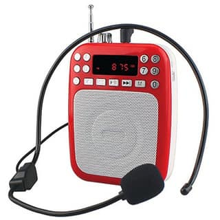 Supersonic Red Rechargeable Bluetooth Voice Amplifier|https://ak1.ostkcdn.com/images/products/14076203/P20687796.jpg?impolicy=medium