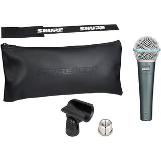 Shure BETA 58A Supercardioid Dynamic Microphone with High Output Element|https://ak1.ostkcdn.com/images/products/14076235/P20688043.jpg?impolicy=medium