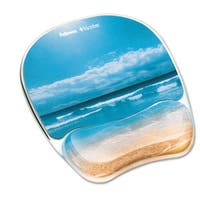 Fellowes Gel Mouse Pad with Wrist Rest Photo 7 7/8 x 9 1/4 Sandy Beach