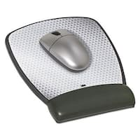 3M Precise Leatherette Mouse Pad with Standard Wrist Rest 6-3/4 x 8-3/5 Black