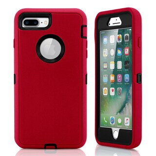Gearonic PC Silicone Shockproof Hybrid Hard Case for iPhone 7 Plus