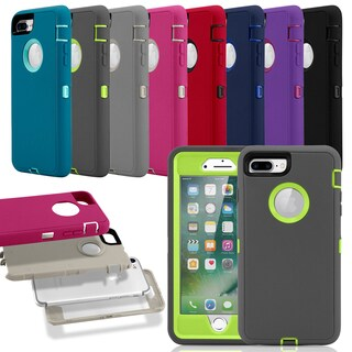 Gearonic PC Silicone Shockproof Hybrid Hard Case for iPhone 7 Plus (Option: Purple)