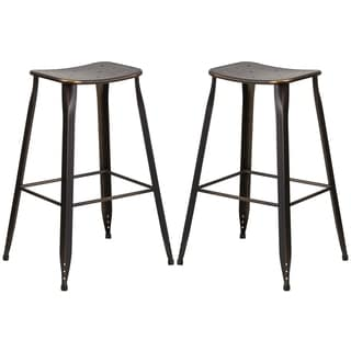 Distressed Copper Galvanized Metal 30-inch Bar stool
