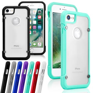 Gearonic Hybrid Rugged Bumper Clear Back Case for Apple iPhone 7