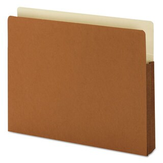 Smead 1 3/4-inch Exp File Pocket Straight Tab Letter Manila/Redrope (Box of 25)