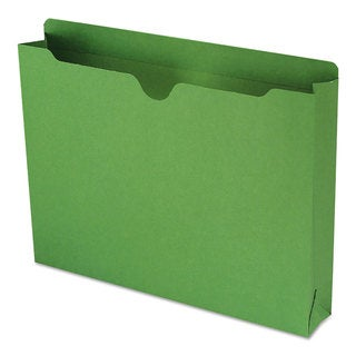 Smead Colored File Jackets with Reinforced 2-Ply Tab Letter 11pt Green (Box of 50)