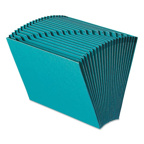 Smead Heavy-Duty A-Z Open Top Expanding Files 21 Pockets Letter Teal