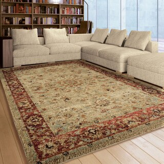 Carolina Weavers American Tradition Collection Prime Border Multi Area Rug (5'3 x 7'6) (As Is Item)