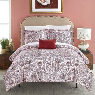 Chic Home 7-Piece Newark Park BIB Duvet Set - Brick