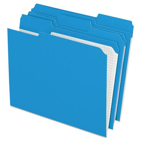 Pendaflex Reinforced Top Tab File Folders 1/3 Cut Letter Blue (Box of 100)