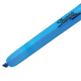 Sharpie Accent Retractable Highlighters Chisel Tip Fluorescent Blue (Box of 12)