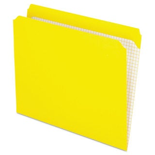 Pendaflex Reinforced Top Tab File Folders Straight Cut Letter Yellow (Box of 100)