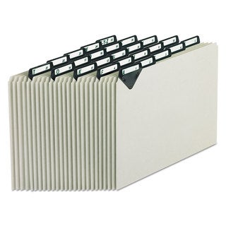 Pendaflex Steel Top Tab Recycled Guides Alpha 1/5 Tab Pressboard Letter (Box of 25)