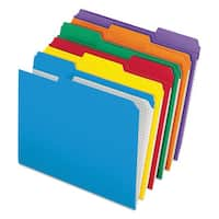 Pendaflex Reinforced Top Tab File Folders 1/3 Cut Letter Assorted (Box of 100)