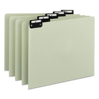 Smead Recycled Top Tab File Guides Alpha 1/5 Tab Pressboard Letter (Box of 25)