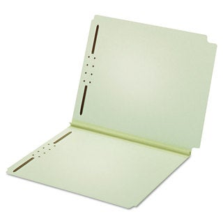 Pendaflex Dual Tab Pressboard Folder 2 Fasteners 2 inches Expansion Letter Light Green (Box of 25)