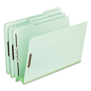 Pendaflex Pressboard Folders 2 Fasteners 3 inches Expansion 1/3 Tab Letter Green (Box of 25)