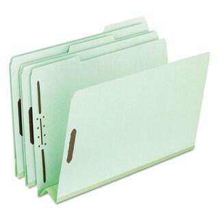Pendaflex Pressboard Folders 2 Fasteners 3-inch Expansion 1/3 Tab Legal Green (Box of 25)