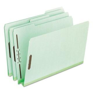 Pendaflex Pressboard Folders 2 Fasteners 2 inches Expansion 1/3 Tab Legal Green (Box of 25)