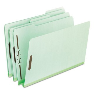 Pendaflex Pressboard Folders 2 Fasteners 2 inches Expansion 1/3 Tab Letter Green (Box of 25)