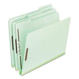 Pendaflex Pressboard Folders 2 Fasteners 1-inch Expansion 1/3 Tab Letter Green (Box of 25)