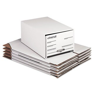 Universal Storage Box Drawer Files Legal Fiberboard 15 inches x 24 inches x 10 inches White (Box of 6)
