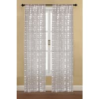 Bubbles Sheer Window Curtain Panel (Set of 2)