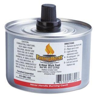 FancyHeat Chafing Fuel Can Stem Wick 4-6hr Burn 8oz (Box of 24)