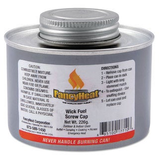 FancyHeat Chafing Fuel Can Twist Cap Wick 4 Hour Burn 8 oz