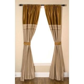 Addison Beige/Brown 84-inch Window Curtain Panel