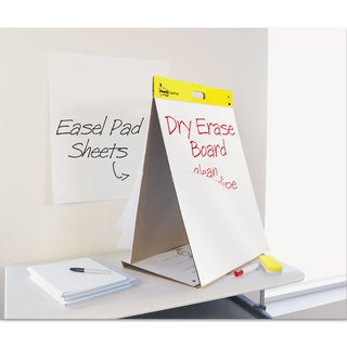 Post-it Easel Pads Dry Erase Tabletop Easel Unruled Pad 20 x 23 White 20 Sheets