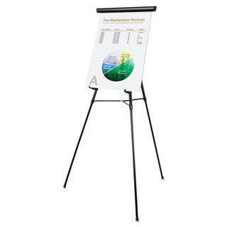 MasterVision Telescoping Tripod Display Easel Adjusts 38 inches to 69 inches High Metal Black