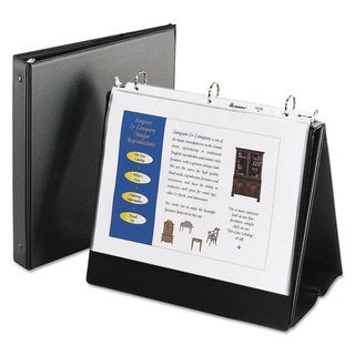 Avery Easel Presentation Durable Binder 1 inches Round Rings Holds 11 x 8 1/2 Paper Black