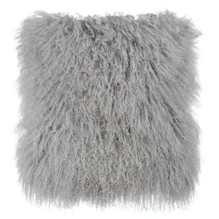 Grey Tibetan Sheep Throw Pillow