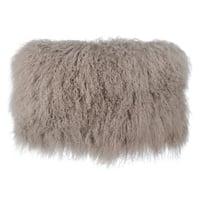 Tibetan Sheep Sandy Brown Large Throw Pillow