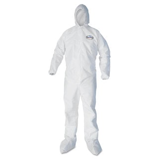 KleenGuard A40 Elastic-Cuff Hood & Boot Coveralls White 2X-Large 25/Carton