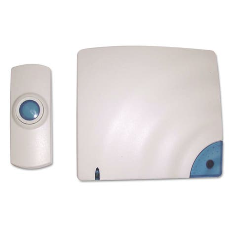 Tatco Wireless Doorbell Battery Operated 1-3/8-inch wide x 3/4-inch deep x 3-1/2-inch high Bone