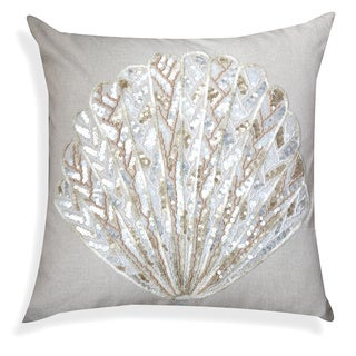 A1HC Sequin Sea Shell 20 x 20 Decorative Throw Pillow