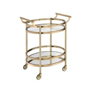 Acme Furniture Lakelyn Glass Serving Cart in Multicolor