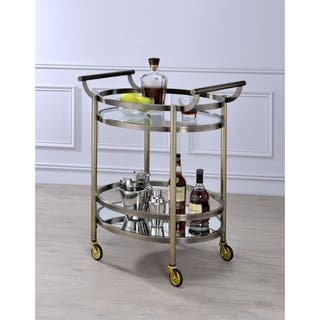 ACME Lakelyn Glass Serving Cart in Multicolor https://ak1.ostkcdn.com/images/products/14078430/P20689838.jpg?impolicy=medium