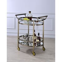 ACME Lakelyn Glass Serving Cart in Multicolor