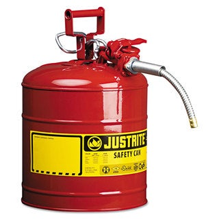 JUSTRITE AccuFlow Safety Can Type II 5gal Red 5/8-inch Hose