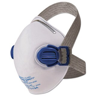 Jackson Safety R10 Particulate Respirator N95 White with Grey Straps 10/Box