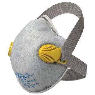 Jackson Safety R20 P95 Particulate Respirator with Nuisance Level Organic Vapor Relief,Yellow,80CT