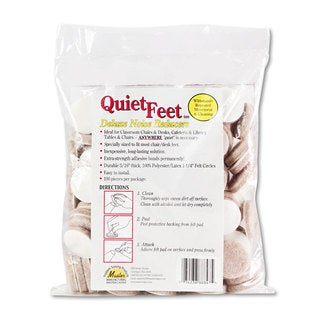 Master Caster Quiet Feet Deluxe Noise Reducers 1 1/4 inches dia Circular Beige 100/Pack