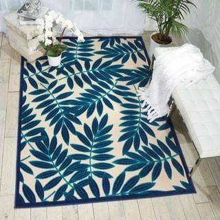 Nourison Aloha Navy Indoor/Outdoor Rug (3'6 x 5'6)