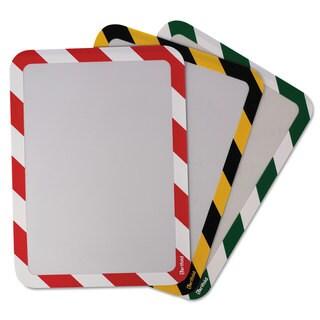 Tarifold Inc. High Visibility Safety Frame Display Pocket-Self Adhesive 10 1/4 x 14 1/2 Yellow/Black
