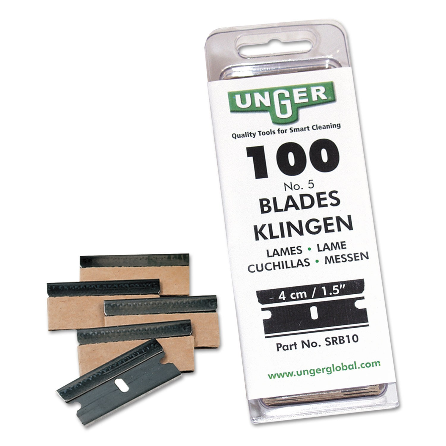 Unger Safety Scraper Replacement Blades 9 Stainless Steel...